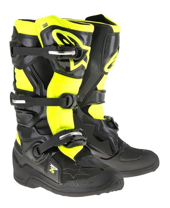 Alpinestars Tech 7s Youth Black Flo Yellow